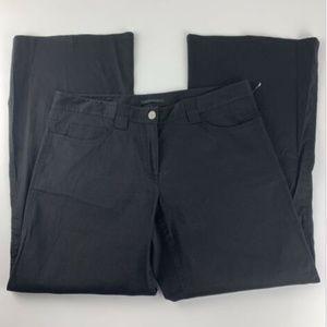 Elie Tahari Black Pants Linen Wide Leg Lagenlook
